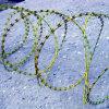 PVC上塗を施してある十字のタイプかみそりの有刺鉄線