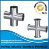 側面のアウトレット((右手か左手)配管の熱湯管ラインのためのステンレス鋼のティーの十字