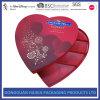 Rectángulo de regalo en forma de corazón de los amores del día de tarjetas del día de San Valentín para el conjunto del chocolate