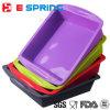 BPA освобождают большую прессформу лотка торта силикона квадрата размера
