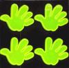 Etiqueta engomada reflexiva de la mano del PVC de la seguridad popular de la dimensión de una variable
