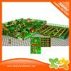 Het grappige Binnen Plastic BinnenSpel van het Labyrint van de Speelplaats met Trampoline