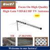 VHF及びUHFのアンテナ八木屋外TVのアンテナモデル32e