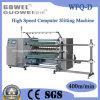 WFQ (D) de alta velocidad controlado por computadora Roll rebobinadora cortadora longitudinal