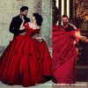 Tiered Red Wedding Ball Gowns Manga Túnica Quinceanera Vestidos Z6010