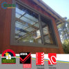 Design à prova de estrutura UPVC serie de correr janelas de vidro triplo