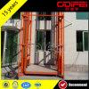 Carril de guía del almacén que eleva la plataforma de trabajo