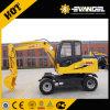 Mini excavatrice Wyl65 de roue de 6 tonnes