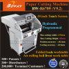 1000シート520mm 560mmの代理店インドの670mm自動油圧プログラムされたペーパー打抜き機の価格