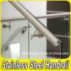 Pasamanos de escalera de cristal de acero inoxidable montaje