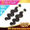 estensioni brasiliane 100% dei capelli umani del Virgin dell'onda del corpo 9A Lbh 318