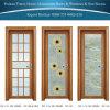 Porte articulée par toilette en aluminium de tissu pour rideaux de salle de bains avec la glace de Glace-Fleur