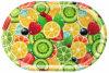 Bandeja oval del regalo de la promoción de la fruta de la dimensión de una variable