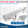 방수 옥외 영사기 DC24V 1000mm 1200mm 선형 IP65 바 Wallwash 24W 36W LED DMX RGB 벽 세탁기