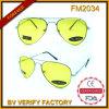 Óculos de sol FM2034 piloto com lente da visão noturna