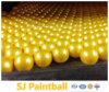 卸売0.68の口径の黄色いトレーニングPaintballs/のペンキの球