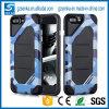 iPhone híbrido 6s de la caja del teléfono celular de la PC del camuflaje TPU