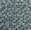 Venta caliente la mezcla de vidrio de color negro mosaico de piedra