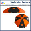 Handelsstrand-Regenschirm-orange schwarzer Lichtbogen 180cm