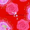 la dispersión cristalina de 100%Polyester Rose 3D imprimió la tela para el conjunto del lecho