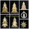 Talvez luzes de madeira do diodo emissor de luz da árvore de Natal da qualidade nao melhor para a iluminação interna da decoração