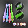 Blasen-Karten-Paket-Kind-Zahnbürste mit Übergangsdruck auf dem Griff
