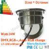 lumière sous-marine accessible de 24W DMX DEL, travail avec le contrôle de Madrix RVB