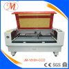 Manueel-plaatst Laser Cuttter&Engraver voor Industrie van het Borduurwerk (JM-1810h-CCD)