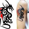 Etiquetas engomadas temporales impermeables del tatuaje de la carrocería popular
