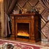 簡単なヨーロッパの彫刻の電気暖炉のホテルの家具(333)