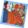 Шарф повелительницы Способа Printed Квадрата Twill Silk (HC056-1)