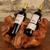 Het uitstekende Rek van de Wijn van het Rek van de Wijn van de Manier Met de hand gemaakte Houten