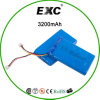 pack batterie rechargeable de batterie de polymère du Li-ion 3.7V 605085 3200mAh