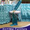 Faixas azuis da cadeira do casamento do plissado de Tiffany, faixas Curly da cadeira do salgueiro