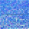 Color azul del azulejo de la piscina del mosaico de cristal