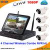4 Kanal WiFi kombinierter NVR Satzdrahtlose P2p IP-Kamera