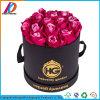 Коробка подарка цветка водоустойчивого черного цилиндрического картона круглая