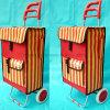 2つの車輪のスマートな金属のスーパーマーケット袋手のショッピングトロリーカート