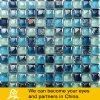 Мозаика голубого смешивания стеклянная в форме пузыря