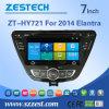 Hyundai Elantra 2014년 (ZT-HY721)를 위한 GPS를 가진 주춤함 차 DVD