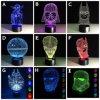 Fantastische Licht-Lampen Star Wars Darth Vader des Schreibtisch-3D 7 Raum-Dekoration-Nachtlichter des Farben-Änderungs-Licht-LED