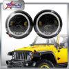 L'angelo LED di SAE 50W 10-30V 7 del PUNTINO del nuovo prodotto del faro rotondo 7 di pollice  Eyes gli anelli bianchi di guidacarta del faro DRL per il Wrangler Jk/Cj della jeep