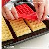 Heat-Resistant Ture Shot Bolo de Silicone Moldes para fazer Waffle