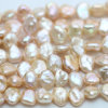 10mm Pink Keshi Natural Cultured Pearl Strands Wholesale、E190009