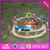 2016 оптовая торговля детским деревянные автомобильной дорожки, дешевые игрушки для детей деревянная игрушка гусеницы автомобиля, Забавная игрушка для детей деревянные автомобиля контакт W04D013