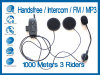 2x 1000m BT Interphone Bluetooth Motorbike Motorcycle Helmet Intercom mit FM