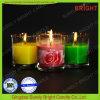 واضحة زجاجيّة مرطبان شمعة مع صنع وفقا لطلب الزّبون تصميم لون علامة مميّزة