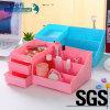 Caja de almacenamiento de plástico para cosméticos de escritorio