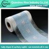 Tôle arrière textiles imprimés nontissé Film pour les fournisseurs de couches pour bébés en provenance de Chine
