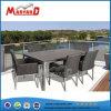 Vente à chaud en acier inoxydable de plein air Table à manger et 6 chaises
